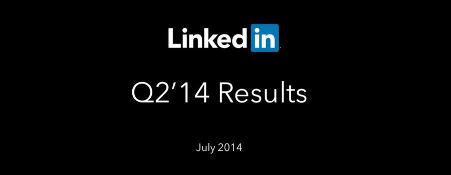 LinkedIn Quartalszahlen Q2 2014