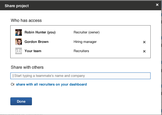 LinkedIn Recruiter Projects