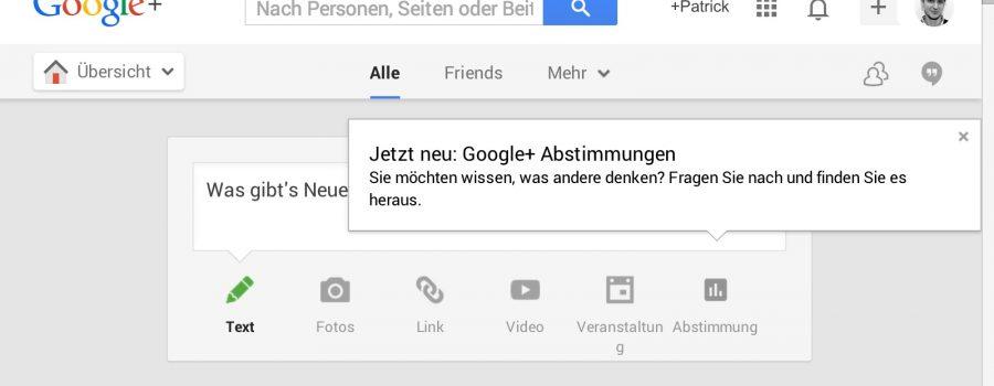 Google+ Abstimmungen