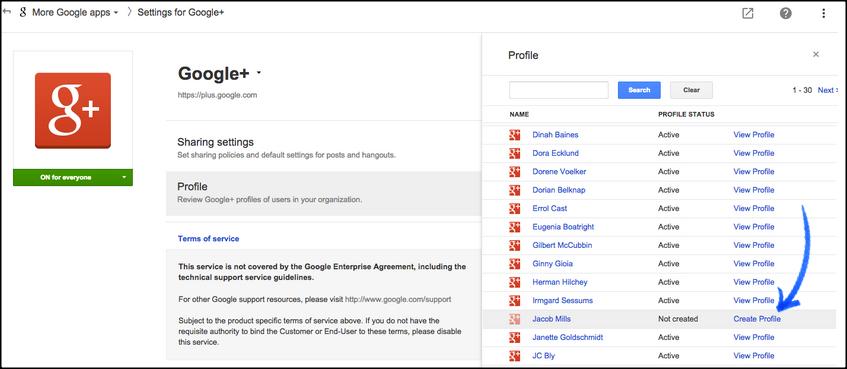 Google+ for work