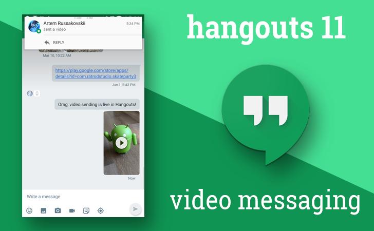 google hangouts video