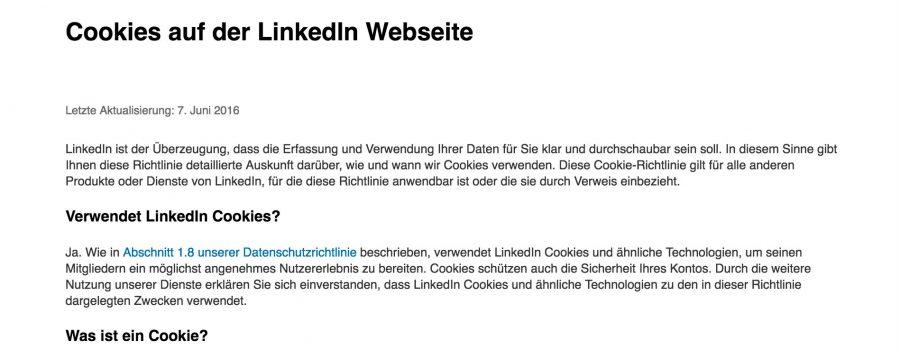 LinkedIn Cookie Policy