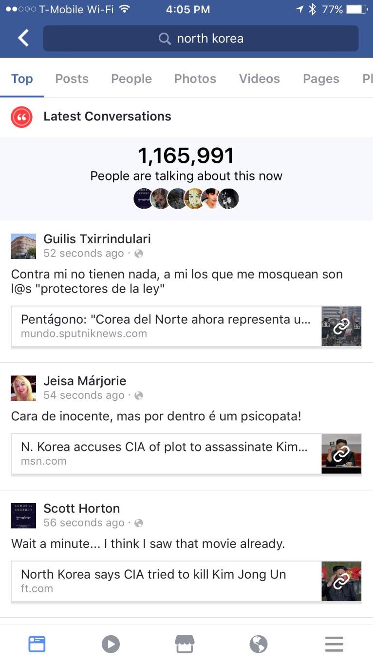 Suchfunktion Facebook