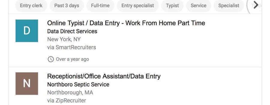 google jobs suchergebnisse