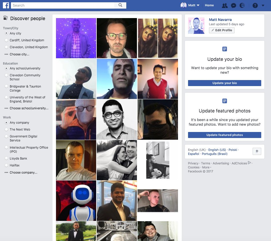 Facebook Personensuche