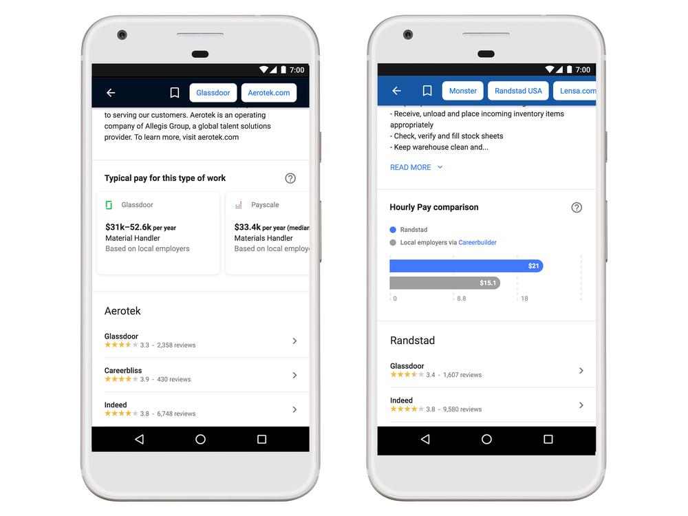 google for jobs neue funktionen