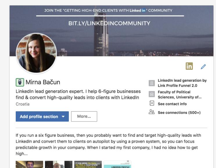 linkedin neues profildesign