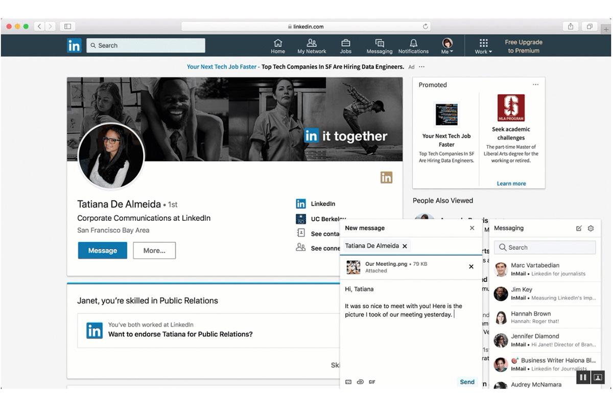 linkedin messaging-funktion updates