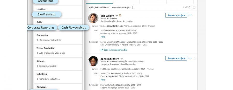 linkedin-recruiter funktionen