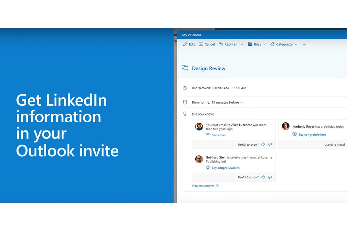 linkedin office 365-integration