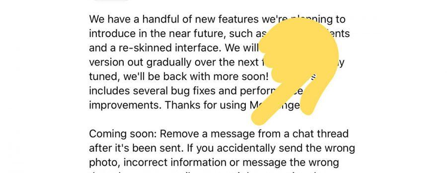 facebook messenger unsend-funktion