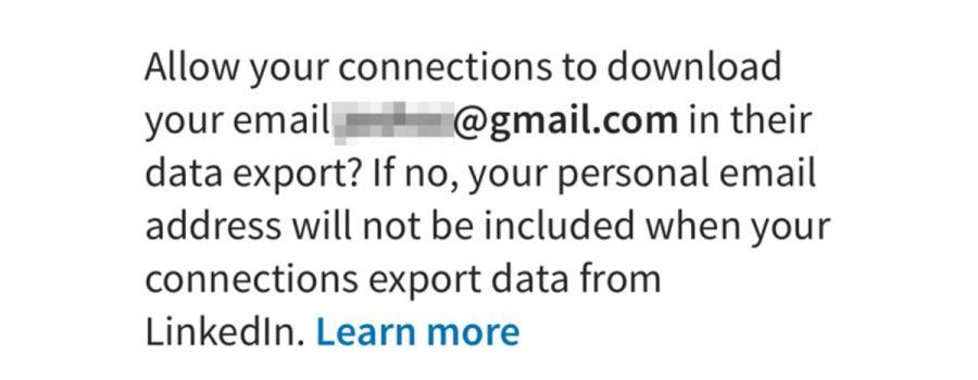 linkedin exportieren email