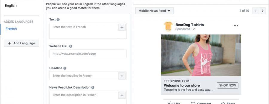 facebook dynamische anzeigen mehrsprachig