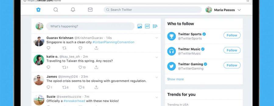 twitter web-version redesign