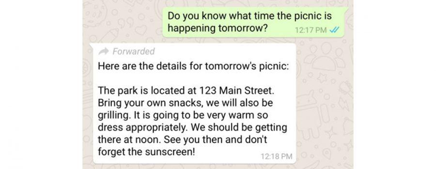 whatsapp weitergeleitete nachricht
