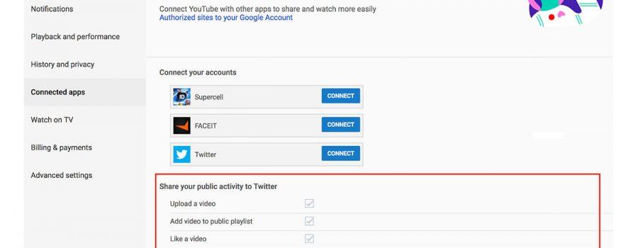 youtube automatisches teilen twitter