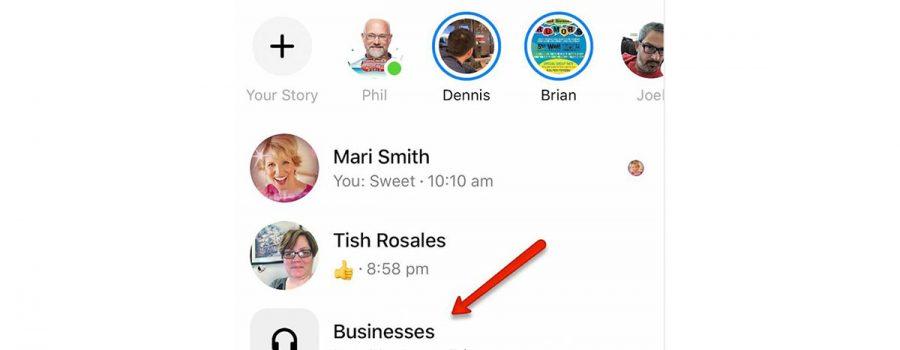 facebook messenger businesses-ordner