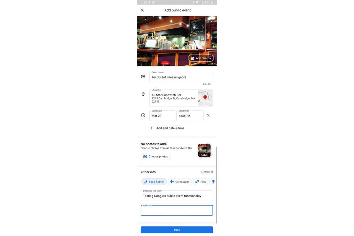 google maps veranstaltungen
