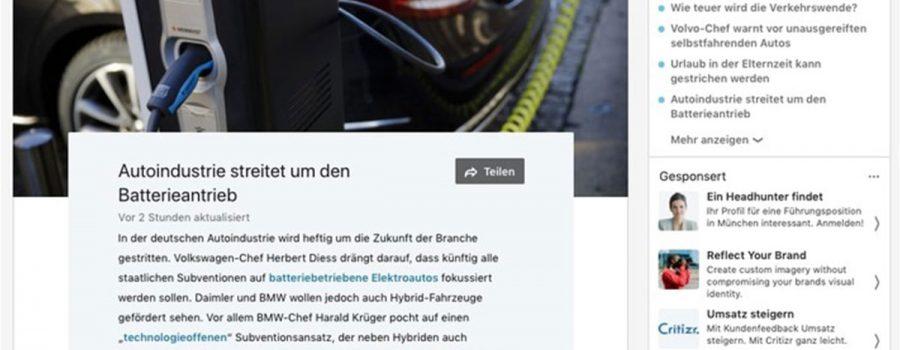 linkedin aktuell und diskutiert