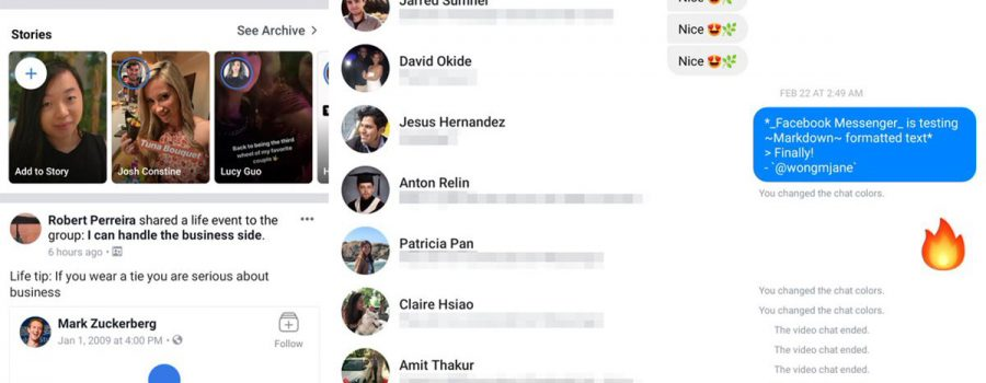 facebook messenger haupt-app